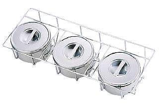 薬味・調味料入 保存容器・料理道具・調理用品 18-8ステンレス製 中華用ヤクミ入 I型3ヶ入(535×220×H125mm) (7-0210-1601)