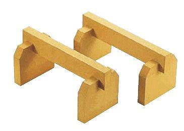まな板小物 送料無料 ゴム製 まな板用脚(2ヶ1組)全長:50cm 高さ:16cm (6-0347-0602)