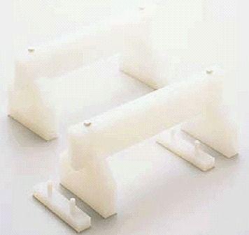 サイズ35cm☆ 在庫あり まな板小物 定番スタイル プラスチック 高さ調節付まな板用脚 2ヶ1組 7-0360-0302 高さ:200mm 全長:35cm