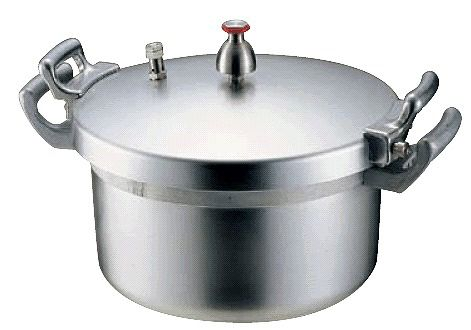 圧力鍋:21L 送料無料 業務用!学校・施設様に ホクア 業務用アルミ圧力鍋21L (6-0093-0303)