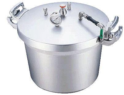 圧力鍋:50L 送料無料 超大型!学校・施設様に Ωアルミ 業務用圧力鍋50L(第2安全装置付) (7-0049-0101)