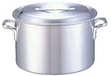 半寸胴鍋 送料無料 (ふた付き):39cm アルミDON半寸胴鍋39cm (6-0037-0208)