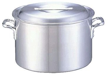 半寸胴鍋 送料無料 (ふた付き):45cm アルミDON半寸胴鍋45cm (6-0037-0210)