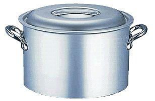 送料無料 半寸胴鍋 (ふた付き):33cm アルミ マイスター半寸胴鍋33cm (7-0030-0206)