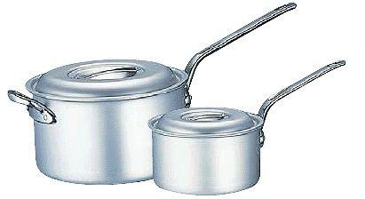 片手鍋 送料無料 (ふた付き):36cm 全面アルマイト加工 アルミマイスター片手深型鍋36cm (7-0030-0408)