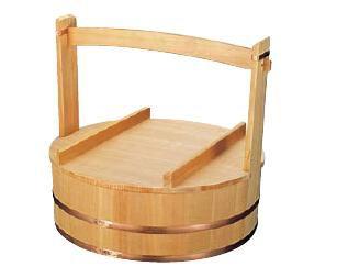 送料無料 木製 出前岡持(椹製) 53cm φ495×深さ145mm (6-0363-1503)