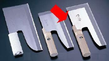 (片刃) 切れ者 うどん・そば等の麺切用包丁 ステンレス鋼 A-1048 刃渡り270mm、全長300mm (7-0374-1102) 麺切庖丁
