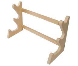 木製 卓上麺棒掛 3段 450×180×H280mm (7-0373-1401)