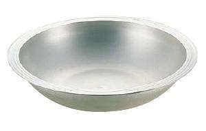 こね鉢 そば・うどん・パン生地などに 外径55cm アルミイモノねり鉢 内径474×高さ115mm (7-0375-0804)