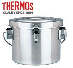 送料無料 食缶・給食道具 4L THERMOS サーモス 18-8ステンレス製 真空 断熱容器(シャトルドラム) GBC-04 φ26cm (6-0183-0701)