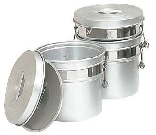 送料無料 食缶・給食道具 8L アルマイト 段付二重職間 246-R (265×H260mm) (7-0186-0202)