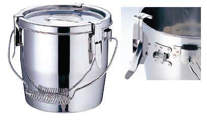 【送料無料】【食缶・給食道具】【4L】Ωモリブデン フック脱着式 汁食缶 (シリコンゴム) 18cm (6-0181-0202)