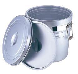 送料無料 食缶・給食道具 20L アルマイト 段付二重食缶 250-A (370×H320mm) (7-0186-0301)