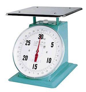 送料無料 ハカリ フジ 上皿自動ハカリ特大E型(平皿付)ひょう量30kg (6-0541-0302)