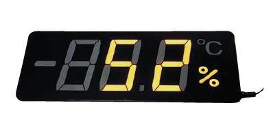 送料無料 温湿度計 薄くて軽い!視界性もバツグン 薄型温湿度表示器 メンブレンサーモ TP-300HA (6-0557-1201)