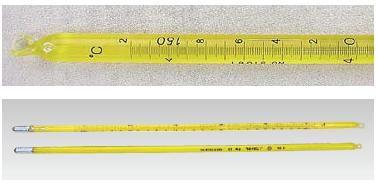 送料無料 標準棒状温度計 JC-1155 5号 200~250℃ (6-0555-1806)