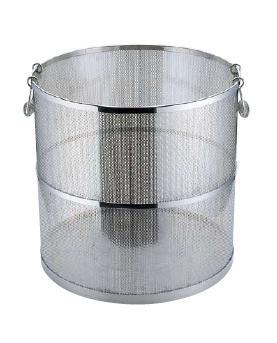 スープ取りざる 送料無料 エコクリーン UK18-8 ステンレス製 パンチング丸型スープ取ざる 45cm用(7-0417-0504)