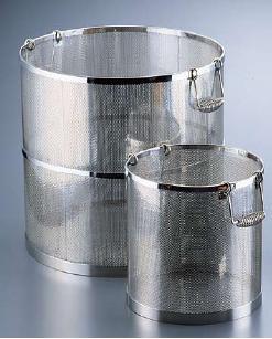 スープ取りざる 送料無料 UK18-8 ステンレス製 パンチング 丸型スープ取りざる 45cm用 (6-0406-0304)