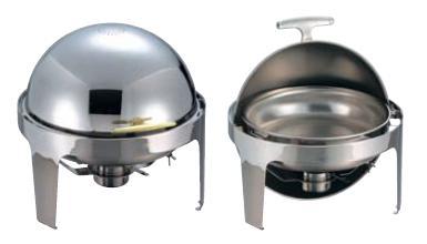 ビュッフェ/バイキング用品 送料無料 SXロールトップチェーファー丸型 X32681U 固定ランプ1ヶ付(EBM20-1)(1055-10)