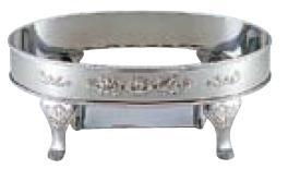 送料無料 ビュッフェ/バイキング用品 UK18-8ステンレス ユニット 魚 湯煎 スタンド 22インチ(EBM20-1)(1065-05)