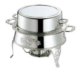 送料無料 ビュッフェ/バイキング用品 SW18-8ステンレス 丸湯煎 16インチ(EBM20-1)(1066-04)
