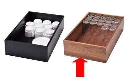 ビュッフェ/バイキング用品 送料無料 和食ビュッフェのセットアップに 木製 システム ボックス ブラウン(EBM18-1)(958-12)