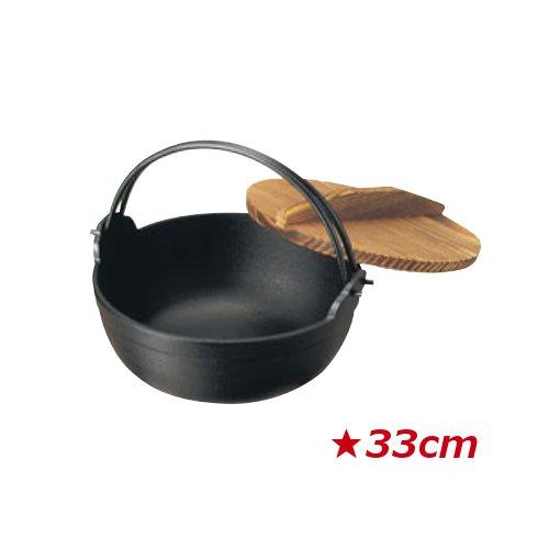 南部 鉄 黒塗り ふる里鍋 深型 33cm (5.0L)鉄・黒塗り 田舎鍋 いなか鍋 鉄鍋 いろり鍋 囲炉裏鍋 やまが鍋 ふる里鍋 煮込み鍋(EBM18-1)(1486-01)