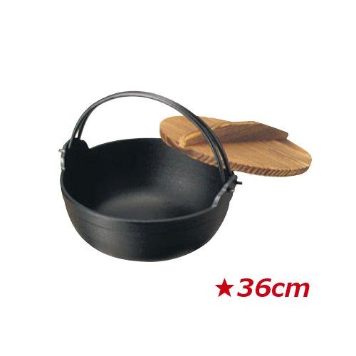 南部 鉄 黒塗り ふる里鍋 深型 36cm (7.5L)鉄・黒塗り 田舎鍋 いなか鍋 鉄鍋 いろり鍋 囲炉裏鍋 やまが鍋 ふる里鍋 煮込み鍋(EBM18-1)(1486-01)