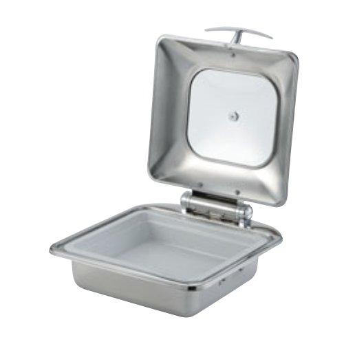 SX チューフィングディッシュ 2/3サイズ シングル 陶器仕様(内鍋寸法 354×325×H70 容量4.5L)油圧タイプのカバーでゆっくり閉まる カバーが簡単に取り外せる(EBM18-1)(1007-01)