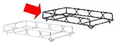 ビュッフェ/バイキング用品 送料無料 電気ビュッフェ ウォーマー用 ワイヤースタンド ブラック(EBM19-1)(1027-16)