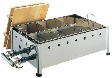 ガス式おでん鍋 送料無料 18-8ステンレス製 直火式 おでん鍋 OJ-18 尺8寸 LPガス (6-0737-0307)