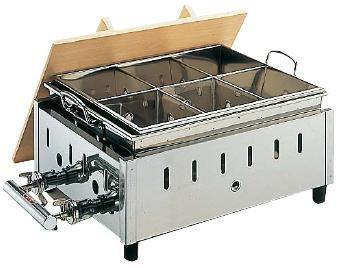 ガス式おでん鍋 送料無料 18-8ステンレス製 湯煎式 おでん鍋 OY-14 尺4寸 LPガス (6-0737-0404)