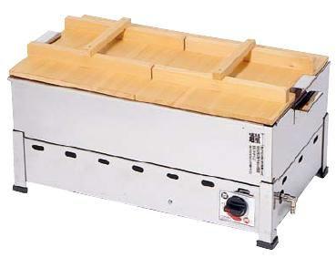 おでん鍋 送料無料 18-8ステンレス製 ガス式 おでん鍋 (湯煎式) KOT-1型 KOT-1-B LPガス (6-0737-0105)
