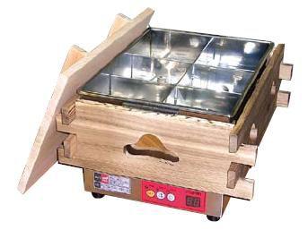 おでん鍋 送料無料 デジタル表示で簡単調理!いつでもアツアツのおでん♪ エイシン マイコン 電気おでん鍋 6ッ切 CVS-6D (6-0735-0801)