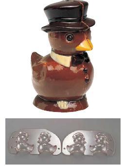 製菓用品・チョコレート型 お菓子作り・道具 チョコレートモルド ヒヨコ 2PCS EU-630(両面合わせ) (7-0989-0501)