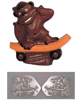 製菓用品・チョコレート型 お菓子作り・道具 フランス デコレリーフ社 チョコレートモルド ゴリラ EU-562(両面合わせ)(7-0989-0601)