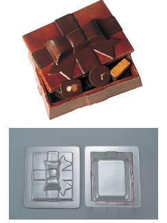 本場フランスの製菓アイテム・チョコレート型 製菓用品・チョコレート型 お菓子作り・道具 フランス デコレリーフ社 チョコレートモルド ボックス型 EU-648 (8-1021-0301)