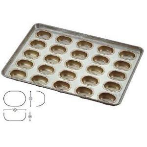 送料無料 製菓用品・プチケーキ・焼菓子型 お菓子作り・道具 シリコン加工 玉子型 天板(プレスタイプ)大 25ケ取 (6-0986-1501)