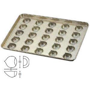 送料無料 製菓用品・プチケーキ・焼菓子型 お菓子作り・道具 シリコン加工 マロンケーキ型 天板(プレスタイプ) 25ケ取 (6-0986-1201)