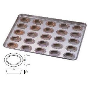 製菓用品・プチケーキ・焼菓子型 お菓子作り・道具 シリコン加工 オーバル型 天板(プレスタイプ) 25ケ取 (7-1037-0101)