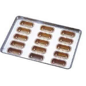 送料無料 製菓用品・プチケーキ・焼菓子型 お菓子作り・道具 シリコン加工 フィンガー型 天板(プレスタイプ) 15連 L (6-0987-1301)