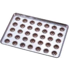 送料無料 製菓用品・プチケーキ・焼菓子型 お菓子作り・道具 シリコン加工 わん型40高 天板(プレスタイプ) 35連 (6-0987-0601)