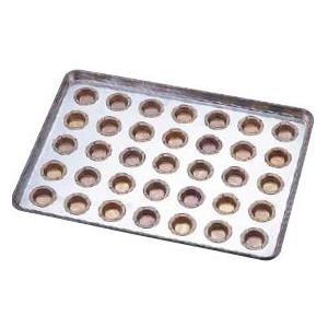 製菓用品・プチケーキ・焼菓子型 お菓子作り・道具 シリコン加工 プティフール型 天板(プレスタイプ) 35連 (7-1037-1201)