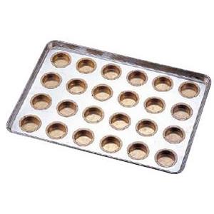 送料無料 製菓用品・プチケーキ・焼菓子型 お菓子作り・道具 シリコン加工 カステラカップ型 天板(プレスタイプ) 24連 (6-0987-1101)