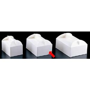 製菓用品・ラッピング ショートケーキボックス 21cm エコ洋生 キャリーボックス DE-52 4号(200枚入) (7-1065-1202)