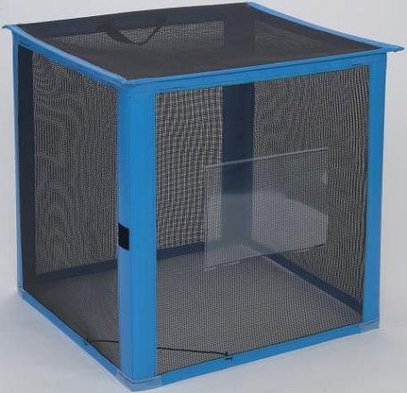 資源ゴミ回収用・ゴミ回収ステーション 持ち運び簡単 イベントなどに 自立ゴミ枠 折りたたみ式 黒 250L (テラモト)[DS-261-011-9]