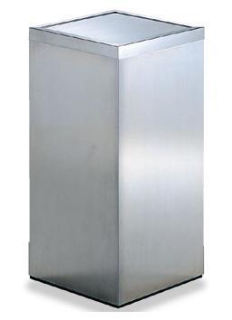 送料無料 屑入れ・ごみ箱 屋内用・ステンレス製 ヘアーライン仕上 容量28L 屑入DK-030 (300×300×600) (テラモト)[SU-289-530-0]