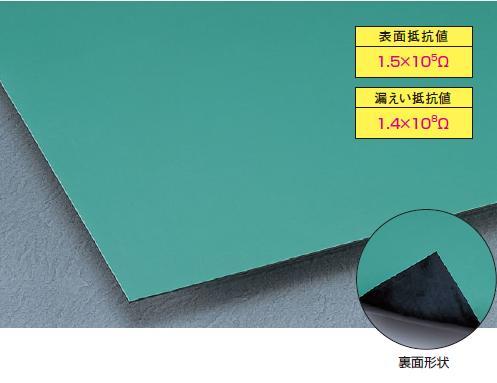 ※受注生産品 マット・シート 導電用 導電性ゴムシート 1m単位切売 カラー導電性ゴムシート 3mm厚・1m巾×1mに付き (テラモト)[MR-144-180-1]