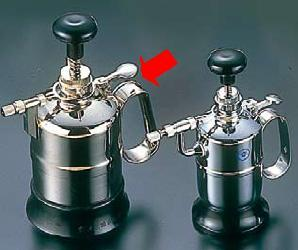 ! スプレー容器・噴霧器 クロームメッキ噴霧器 防水型 中型(700cc) (7-1454-1602)