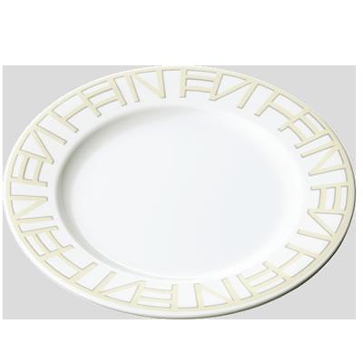 送料無料 Daiwa|プラスチック食器|メラミン製|業務用食器|食堂|飲食店 10個セット/10個以上端数注文可 Fミート皿 ホワイトシャドー(Φ217×H22mm) (台和)[BY-752-WSH]